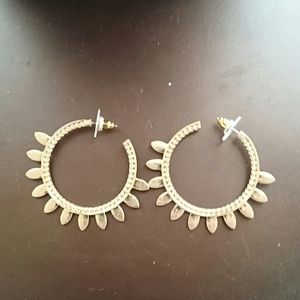 Free People boho lotus loop earrings